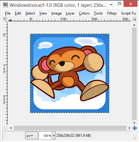Large resolution Ookibloks icon in Gimp
